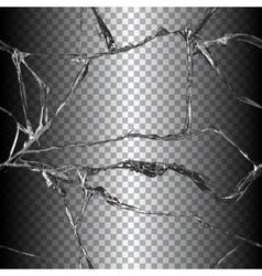 Realistic broken glass vector image