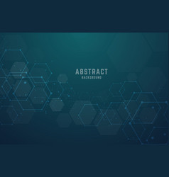 Abstract hexagonal molecular structures vector