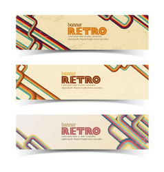 Abstract retro banners set vector