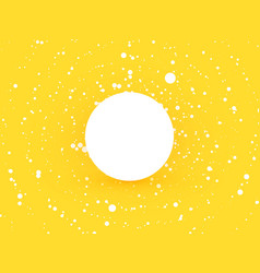abstract yellow circle dots background with white vector image