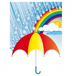 after the rain comes sun vector image