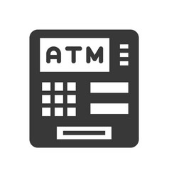 Atm machine bank and financial related icon glyph vector