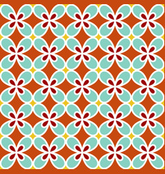 background with seamless pattern in colorful style vector image