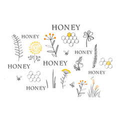 beekeeping cloud background vector image