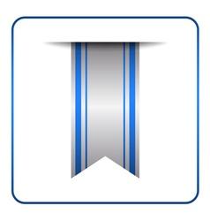 Blue bookmark banner symbol vector image