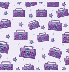 bombox stereo background design vector image