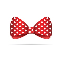 Bow dotted in red vector