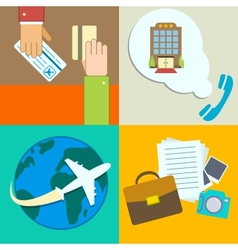 Business travel infographics icons set vector