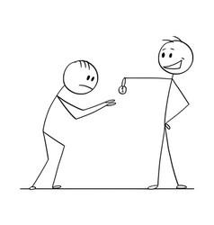 Cartoon haughty arrogant man or businessman vector