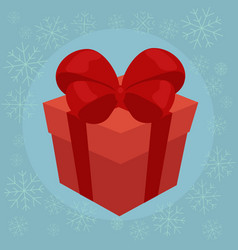 christmas gift flat vector image vector image