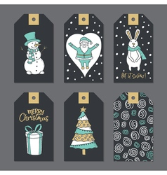 Christmas stickers for decoration vector image