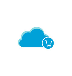 cloud computing icon shopping cart icon vector image