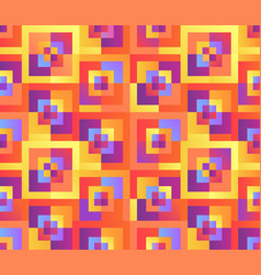colorful mosaic geometrical cover design vector image