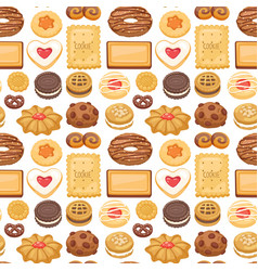 cookie cakes top view sweet homemade breakfast vector image