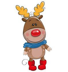 cute christmas deer vector image