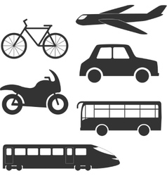 Different transport types vector image
