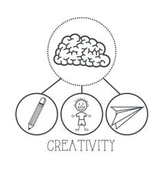 Doodle icon design creativity icon draw concept vector image