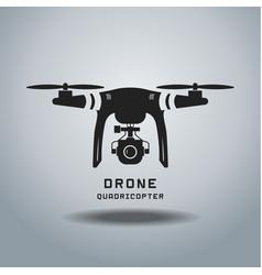 Drone with action camera logo vector