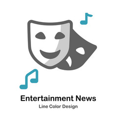 Entertainment news flat icon vector