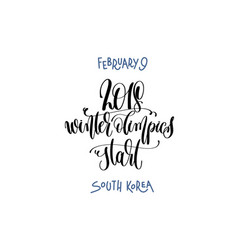 February 9 - winter olimpics start - south korea vector