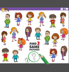 Find two same kid characters task vector