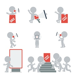 Flat people promotion vector