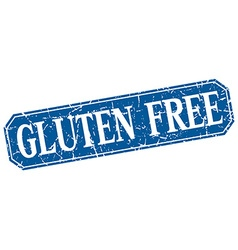 Gluten free blue square vintage grunge isolated vector