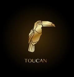 Golden toucan vector