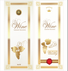 golden wine card vector image