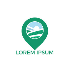 gps landscape logo design vector image