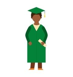 Graduation education people successful vector image