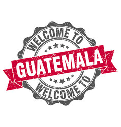 guatemala round ribbon seal vector image