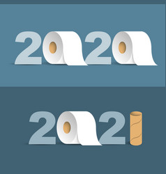 happy new year 2021 inscription numbers with vector image