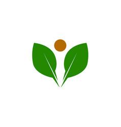 health people logo vector image