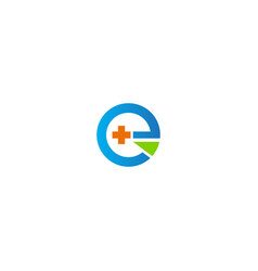 Health sign hospital medic round company logo vector