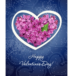 heart from flowers of a lilac vector image
