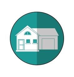House suburban home garage shadow vector