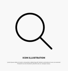Instagram search sets line icon vector
