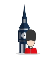Isolated Big ben and soldat design vector image