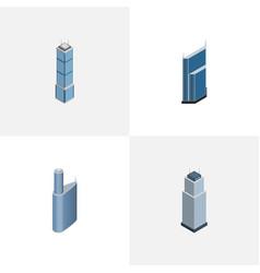 Isometric skyscraper set of apartment building vector