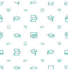 Learning icons pattern seamless white background vector