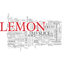 Lemon word cloud concept vector