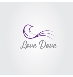 love dove design template vector image