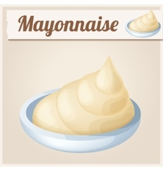 Mayonnaise Detailed Icon vector