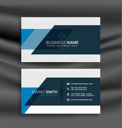 Modern blue business identity template vector