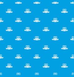 monitor social network pattern seamless vector image