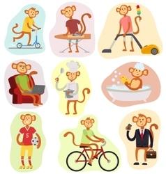 Monkey people vector image