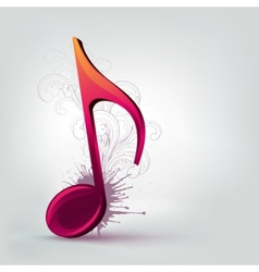 Music note clef vector