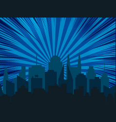 night cityscape comic background vector image
