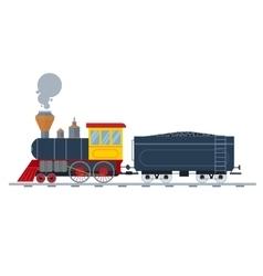 old vintage retro transportation train vector image